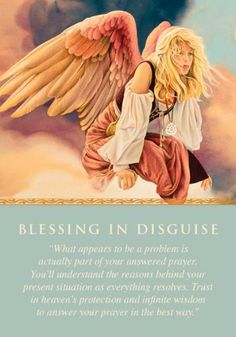 The angels sent you this card to help you recognize the blessing in the midst of an apparent challenge. What you've appeared to have lost needed to fall away, and will be replaced with something better. Have no fear for your future, but continue praying and following the guidance that comes to you through repetitive feelings, thoughts, visions, and words. Additional meanings for this card: One door closes, another one opens