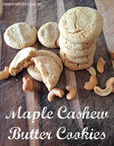 Maple Cashew Butter Cookies. No refined sugar. So simple and would be amazung iced! #glutenfree #dairyfree #eggfree