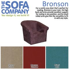 For a comfy cozy chair that's perfect for reading, Bronson is your man.  #ProductSpotlight #Armchair #TheSofaCompany