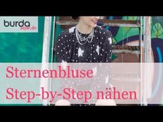 burda style: Sternenbluse Step-by-Step nähen  – Video: burda style/Lena Klippel/Theresa Bachler