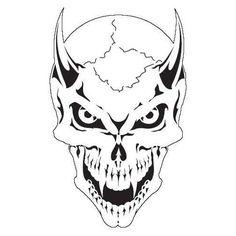 SKULL 17 Scream Skeleton Head AIRBRUSH STENCIL Template
