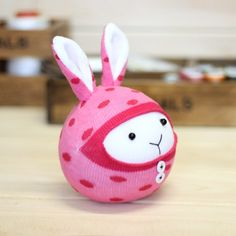 Pink Handmade Animal Stuffed Rabbit Doll Sock Toy Sock DIY Kit Toy