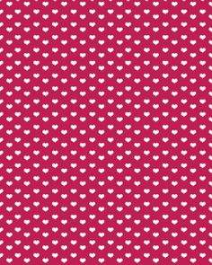 white hearts on red background - free paper printable