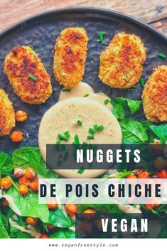 The ideal recipe for children if you want to try the vegan nugget recipes. Here with chickpeas, a thousand island Easy Smoothie Recipes, Easy Smoothies, Good Healthy Recipes, Veggie Recipes, Healthy Snacks, Snack Recipes, Healthy Eating, Vegan Thermomix, Kids Meals