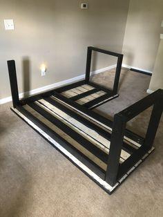 Diy Wood Desk, Wood Office Desk, Diy Desk, L Shape Desk Diy, Gaming Desk Diy, Home Office Decor, Diy Home Decor, Craft Room Desk, Diy Home Furniture