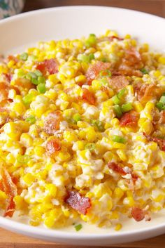 Slow-Cooker Creamed Corn ---- I would use coconut milk, vegan butter and vegan cream cheese to make this recipe dairy free.