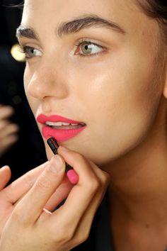 summer lips. Beautiful model