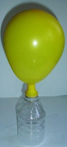 Actividades para Educación Infantil: SEMANA DE LA CIENCIA 3. Reacción química para inflar un globo