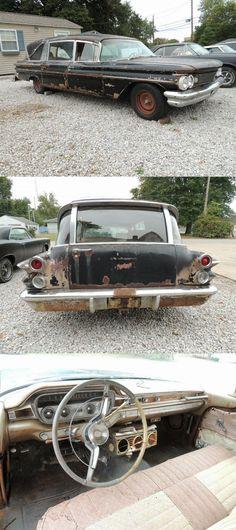 rare 1960 Pontiac Bonneville Hearse project Project Cars For Sale, Pontiac Bonneville, Barn Finds, Restoration, The Unit, Projects, Blue Prints, Tile Projects