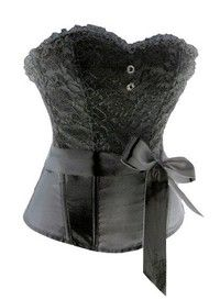 Sexy Gothic Victorian Bustier Corset lace and Ribbon
