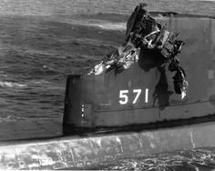 During an exercise in 1966 the USS Nautilus collided with the aircraft carrier USS Essex on 10 November, while diving shallow.