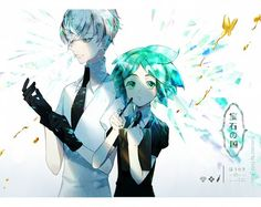 Land of the Lustrous -Antarcticite & Phosphophyllite