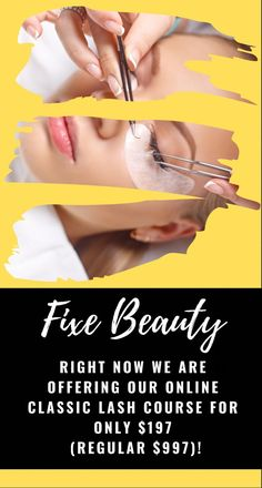 DID YOU KNOW THAT LASH ARTISTS MAKE AN AVERAGE OF $65 TO $95 PER HOUR? GET LASH PRO CERTIFIED IN LESS THAN 2 DAYS ONLINE! Beauty Lash, Beauty Makeup, Beauty Skin, Only Fashion, Fashion Beauty, Women's Fashion, Fashion Outfits, Eyelash Extension Course, Makeup Guide