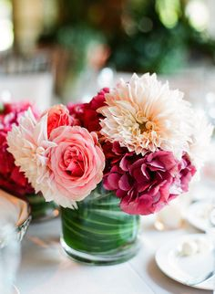 Pretty Pink & Blush Mixed Florals ~ Flowers by huntlittlefield.com, Photography by lisalefkowitz.com
