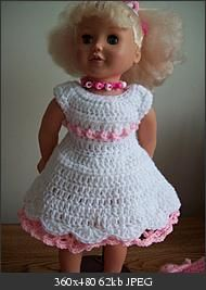 """Free Crochet Pattern """"Pink is Pretty"""" outfit for American girl dolls"""