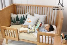 """Once upon a time, a happy boy in his bed..."" 👦🏻💙  .  .  .  .  #simplynursery #toddler #toddlerbed #coolkids #onceuponatime #boy #kids #cutekids #kidsroom #furniture #modern #modernfurniture #nursery"