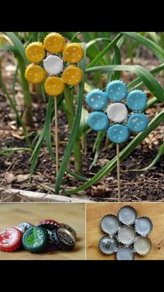 Flower bottle caps