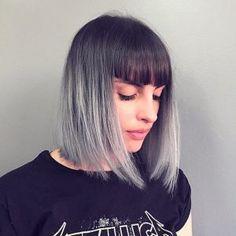 Cabello plateado: 30 ideas de peinado de plata   #cabello #ideas #peinado #plata #plateado