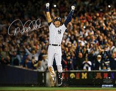 """DEREK JETER Hand Signed """"Final Yankee Moment"""" 16 x 20 STEINER - Game Day Legends"""