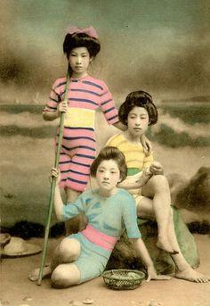 JAPANESE SWIMSUIT GIRLS - Meiji Era Bathing Beauties of Old Japan (12) by Okinawa Soba, via Flickr