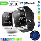 ﹩21.95. GV18 NFC Bluetooth Smart Wrist Watch GSM Phone SIM Camera for Android iOS iPhone   Compatible Operating System - Android, Hardware platform - MTK6261, Product modeling - No.1 GV18 / APLUS, Straps for Wristwatches - Silica gel, Memory - 32M+32M Support Extend Max 32 GB Memory Card, SIM - Support 2G Global Standard., SMS - Sync to phone MSNs, Battery capacity - 550mAh battery, Network - GSM/GPRS 850/900/1800/1900, Band Material - Silicone/Rubber, Case Material - Stainless  Plated