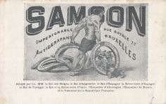Advertising for Samson tires, early 20th century, Brussels #Booktower