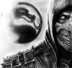 scorpion mortal kombat X by reniervivas