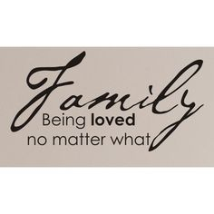 INSTEN Vinyl Attraction 'Family. Being loved no matter what.' Vinyl Wall Decal