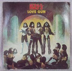 "KISS 1977 LOVE GUN 12"" Vinyl 33 LP I Stole Your Love CHRISTINE 16 CASABLANCA VG #HardRock"