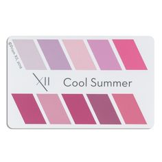 "A credit card sized card showing 10 perfect lipstick colors for your seasonal tone 2""x3"". Can be laminated, or presented in a clear plastic envelope for protection Pop it in your wallet, with your credit cards, and never be without an accurate color swatch to use when purchasing a new lipstick."