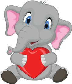 Illustration of Cute elephant cartoon holding red heart vector art, clipart and stock vectors. Cute Elephant Cartoon, Cute Cartoon, Elephant Nursery, Baby Elephant, Clipart, Christmas Elephant, Cartoon Caracters, Kids Cartoon Characters, Heart Illustration