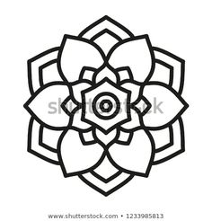 Find Mandala Shape Coloring Floral Kaleidoscope Ornament stock images in HD and millions of other royalty-free stock photos, illustrations and vectors in the Shutterstock collection. Easy Mandala Drawing, Simple Mandala, Mandala Art, Pencil Drawings Of Flowers, Creative Arts Therapy, Bullet Journal Banner, Flower Canvas, Hand Art, Stationery Paper