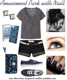 """""""Amusement Park with Niall"""" by one-direction-inspired-outfits ❤ liked on Polyvore • I like how the vans are laced"""