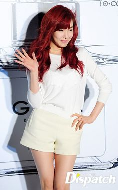 Fany unnie..i love her hair...plus red is my favourite color...