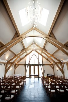 The beautiful ceremony barn at at Mythe Barn #weddingvenue in Leicestershire. Image byjenny.co.uk https://twitter.com/CHWV
