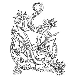 Detailed Medieval Princess Coloring Pages | Coloriage dragon