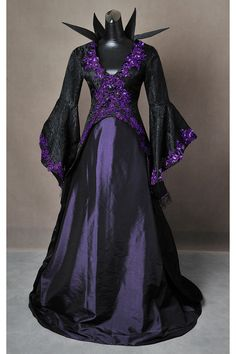 Once Upon a Time Inspired Maleficent Adult Cosplay Costume Gown Dress
