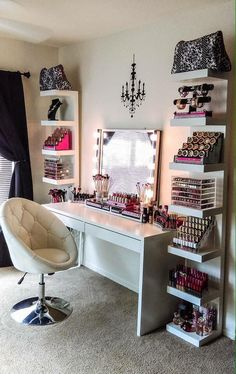 I don't need no where near that much make up, but the vanity is nice More