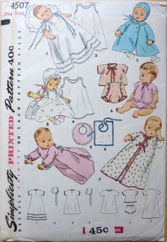 Vintage INFANT'S LAYETTE Sewing Pattern by vintagememory on Etsy