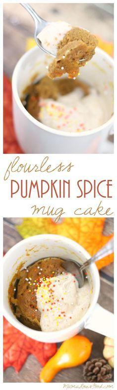 Flourless Pumpkin Spice Mug Cake