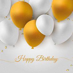 Amazon.com : 6.5*5 FT (2*1.5 m) Celebration party photography background yellow white balloon Happy Birthday baby backdrops for kate Personal customization : Camera & Photo