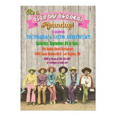 Cowgirl Western Birthday/Bachelorette Invitations