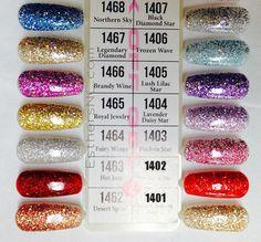 Dnd Gel Nail Polish, Glitter Gel Polish, Red Glitter, Gel Nail Colors, Gel Color, Nail Printer, Red Jelly, Soak Off Gel Nails, Polish