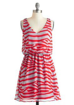 Pattern Around Bright Dress, #ModCloth