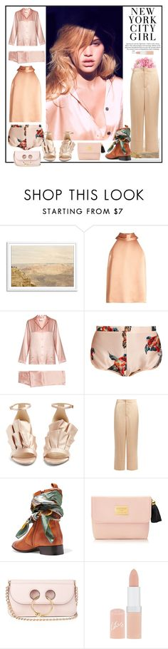"""""""When I wake up in the morning light..."""" by sue-mes ❤ liked on Polyvore featuring H&M, Galvan, La Perla, Katie Eary, Jimmy Choo, Helmut Lang, Maison Margiela, J.W. Anderson and Rimmel"""