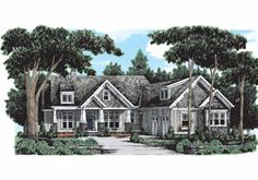 Braxtons Creek - Home Plans and House Plans by Frank Betz   Associates  Good plan, wall of windows in back