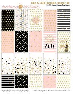 Pink Gold New Year Printable Planner Kit 5 by DigiScrapDelights