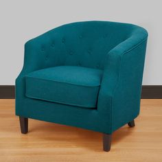 Need two of these for my living room! Ansley Peacock Blue Tub Chair | Overstock.com