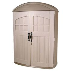 Found it at Wayfair - LifeScapes Highboy Plastic Tool Shed in Tan For storing pool supplies