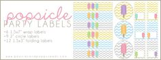 FREE Popsicle Party Printables: Labels